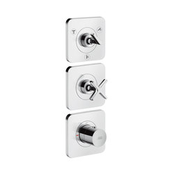 AXOR Citterio E Thermostatic module 38 x12 for concealed installation for 3 outlets with escutcheons | Shower controls | AXOR