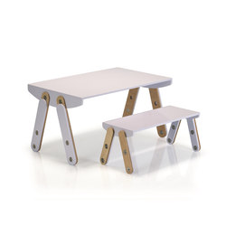 Milky Desk & Bench | Kids tables | GAEAforms