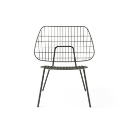 WM String Lounge Chair, Dusty Green | Poltrone da giardino | MENU