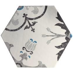 Ornamenti Hanami Terra Bianca | Piastrelle/mattonelle per pavimenti | Valmori Ceramica Design