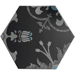 Ornamenti Hanami Terra Nera | Piastrelle/mattonelle per pavimenti | Valmori Ceramica Design