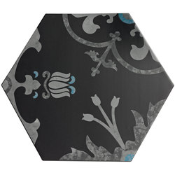 Ornamenti Hanami Terra Nera | Floor tiles | Valmori Ceramica Design