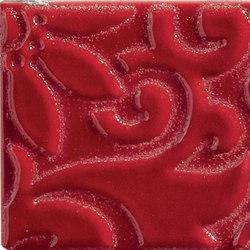 Ornamenti Flow Rosso Maranello | Wall tiles | Valmori Ceramica Design