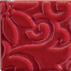 Ornamenti Flow Rosso Maranello | Carrelage céramique | Valmori Ceramica Design