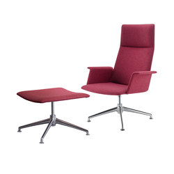 finalounge High-back Chair with Stool 6744/AG | Poltrone lounge | Brunner