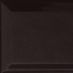 Metro Biselado negro brillo | Carrelage mural | APE Cerámica