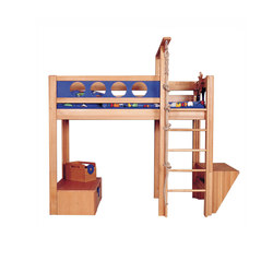 Pirate Bed with Platform DBA-202 | Letti infanzia | De Breuyn