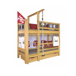 Pirate Bunk bed with drawers DBA-202.8 | Kids beds | De Breuyn