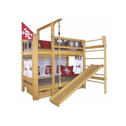Pirate Bed With Slide DBA-202 | Kids beds | De Breuyn