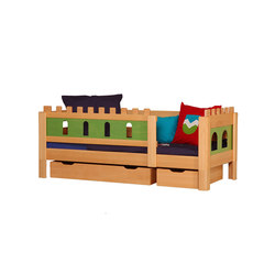 Castle Knight bed with drawers DBA-208.7 | Kids beds | De Breuyn