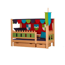 Castle Poster bed with drawers DBA-208.4 | Kids beds | De Breuyn