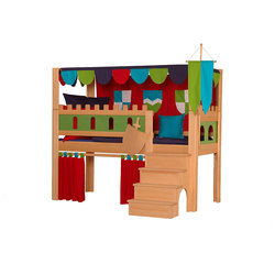 Castle Play bed with Canopy DBA-208.2 | Camas de niños / Literas | De Breuyn