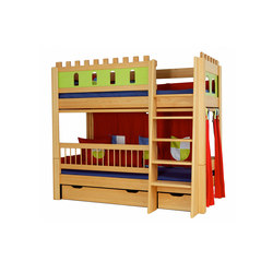 Castle loft game bed DBA-208 | Kids beds | De Breuyn