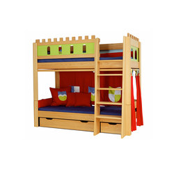 Castle Bunk bed with a guard DBA-208.9 | Letti infanzia | De Breuyn