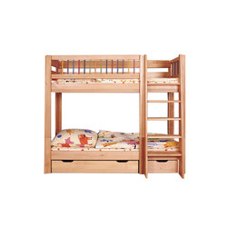 Kubu bunk bed with both upper and lower railing | Lits enfant / Lits à barreaux | De Breuyn