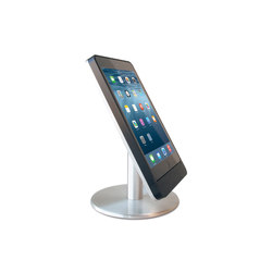 Eve Table Base Mini Satinized | Table integrated displays | Basalte