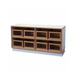 Shelf Unit DBF-602-2-10 | Children's area | De Breuyn
