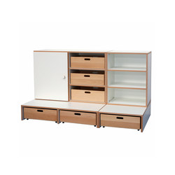 Shelf Combination DBF-652-1-10 | Children's area | De Breuyn