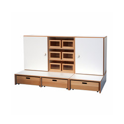 Shelf Combination DBF-652-3-10 | Kids storage furniture | De Breuyn