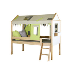 Countryside semi-high play bed | Kids beds | De Breuyn