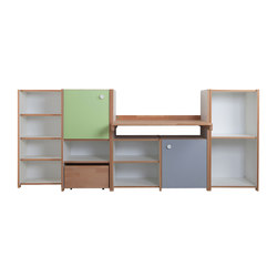 Cabinet Combination with desk | Kids storage furniture | De Breuyn