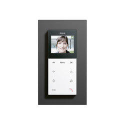 Esprit linoleum-plywood | Surface-mounted home station video | Intercoms (interior) | Gira