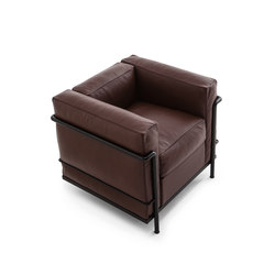 LC2 armchair organic leather | Armchairs | Cassina