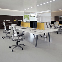 Dv804 e place 01 individual desks from dvo architonic for Bureau 4 places