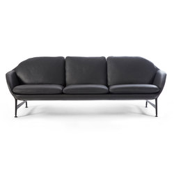 399 Vico 3 Seater Sofa Leather | Lounge sofas | Cassina