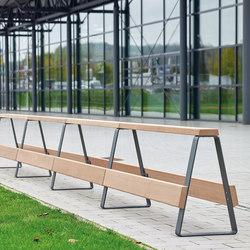 Campus levis balustrade avec un siège module d'élargissement | Bancs publics | Westeifel Werke