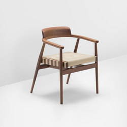 Leather chair solid backrest | Restaurantstühle | H Furniture
