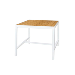 "Allux counter table 43""x43"" (abstract slats) 