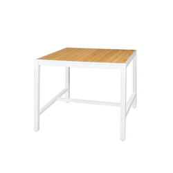 "Allux counter table 43""x43"" (straight slats) 