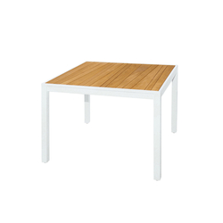 Allux dining table 100x100 cm (abstract slats) | Tables à manger de jardin | Mamagreen