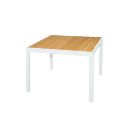 Allux dining table 100x100 cm (straight slats) | Tables à manger de jardin | Mamagreen