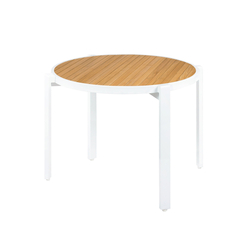 Allux stackable dining table Ø 120 cm (straight slats) | Dining tables | Mamagreen