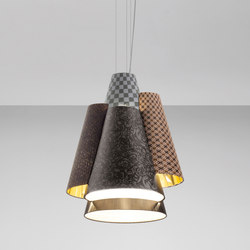 Melting Pot SP 60 dark patterns with diffusers and gold inside | Éclairage général | Axo Light