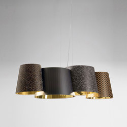 Melting Pot SP 115 dark patterns with gold inside | General lighting | Axolight