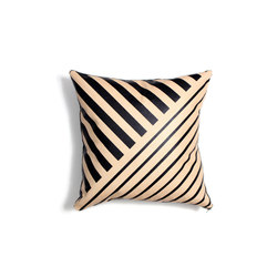 Black Lines Leather Pillow - 18x18 | Cushions | AVO