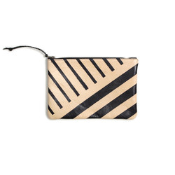 Black Lines Leather Clutch - 11x7.5 | Borse | AVO