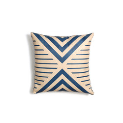 Blue Geometric Leather Pillow - 18x18 | Cuscini | AVO