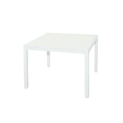 Allux dining table 100x100 cm (glass) | Mesas de comedor de jardín | Mamagreen