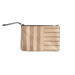 Desert Sand Stripe Leather Clutch - 11x7.5 | Borse | AVO