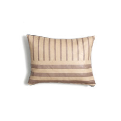 Desert Sand Stripe Leather Pillow - 12x16 | Kissen | AVO