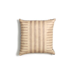 Desert Sand Stripe Leather Pillow - 18x18 | Cushions | AVO