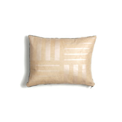 Pearl Crosshatch Leather Pillow - 12x16 | Kissen | AVO
