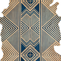 Blue Geometric Rug - Full Hide | Tapis / Tapis design | AVO