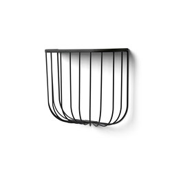 Cage Shelf, Black/Black Ash | Librerie | MENU
