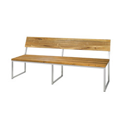 Oko bench 185 cm with backrest | Benches | Mamagreen
