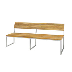 Oko bench 185 cm with backrest (random laminated top) | Gartenbänke | Mamagreen